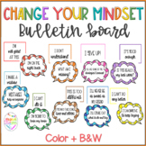 Change Your Mindset Bulletin Board - Growth Mindset Quotes