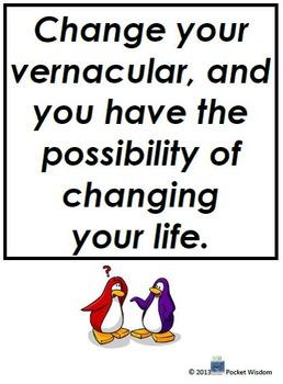 Change Your Vernacular