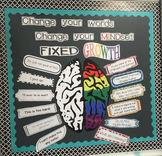 Change Your Words Change Your Mindset Bulletin Board Set - Editable