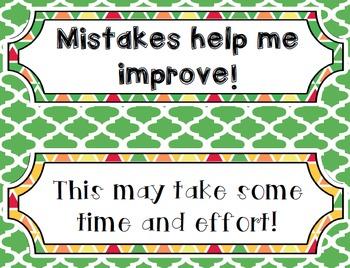 Change Your Words Change Your Mindset Bulletin Board Set - Editable