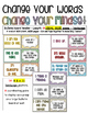 Change Your Words-Change Your Mindset Posters - 2 STYLES