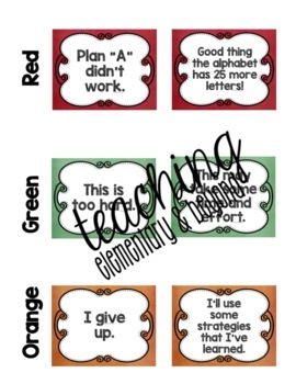 Change Your Words, Change Your Mindset Posters {Chalk Set 1}