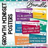 GROWTH MINDSET POSTERS: BUNDLE (Motivational Posters, Growth Mindset Decor)