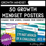 GROWTH MINDSET POSTERS: BUNDLE (Motivational Posters, Growth Mindset Decor)