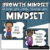 Blue Change Your Words, Change Your Mindset Posters