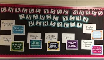 Change Your Words... Change your MINDSET! Bulletin Board!!