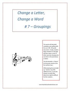 Change a Letter, Change a Word - Puzzle # 7