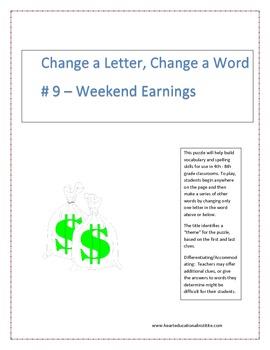 Change a Letter, Change a Word - Puzzle # 9