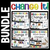 Change a Sound Bundle- Phoneme Substitution - CVC Word Activities
