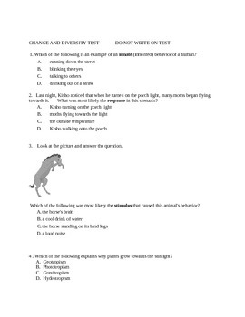 Change and Diversity Test