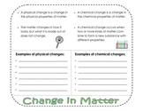 Change in Matter