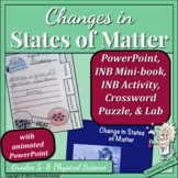 Change in States of Matter: PowerPoint with INB Notes & Lab