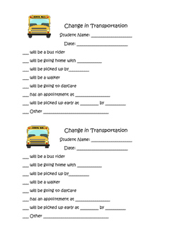 Change in Transportation Form