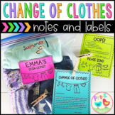 Change of Clothes Note