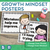 Growth Mindset Posters Change Your Words Change Your Mindset