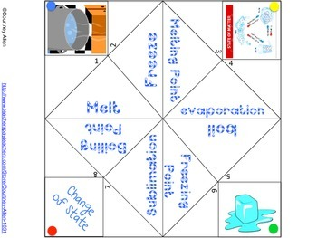 Change of State Cootie Catcher