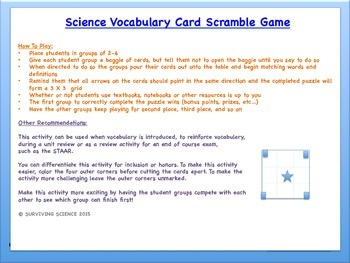 Change of State: Science Vocabulary Scramble Game (TX 3.5C)