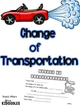 Change of Transportation A Form for Getting Home