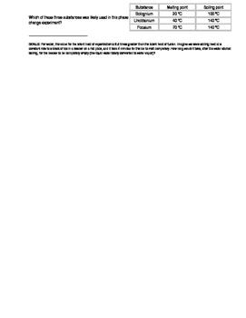 Change of state Worksheet