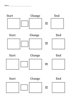 Change plus change minus problems (addition and subtraction)