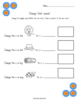 Change that Sound! A manipulating sounds differentiated pack