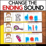 Change the Ending Sound   CVC Words with Google Slides