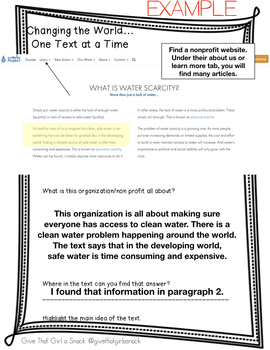 Change the World, One Text at a Time - Teaching Informational Standards