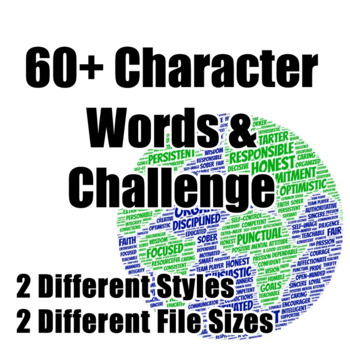 Change the World with 60+ Character Words & Challenge (2 files 16x9 & standard)
