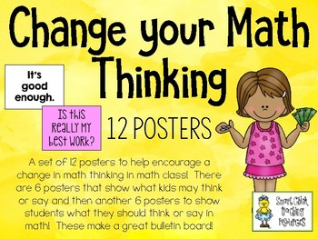 Change your Math Thinking - Poster Set