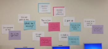 Change your words change your mindset bulletin board