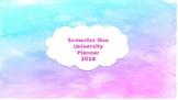 Changeable covers for Semester 1 Organiser