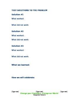 Changemaking for Children Worksheet