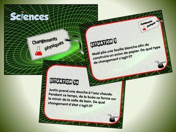 Changements physiques et changements d'état (cartes à tâches) (Sciences)