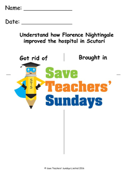 Changes Florence Nightingale made Lesson plan and Worksheets
