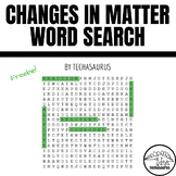 Earth Science - Changes In Matter Vocabulary Word Search