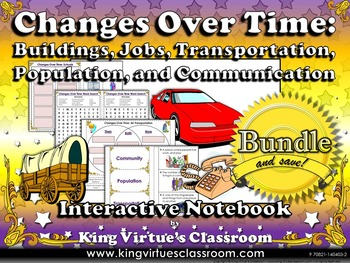 Changes Over Time: Community Changes Interactive Notebook BUNDLE