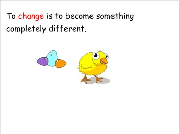 Changes Over Time Theme and Vocabulary Introduction