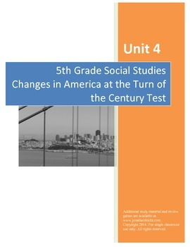 Changes at the Turn of the Century Test AND Completed Study Guide Bundle