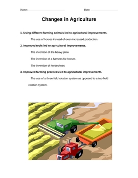 Changes in Agriculture (world history)