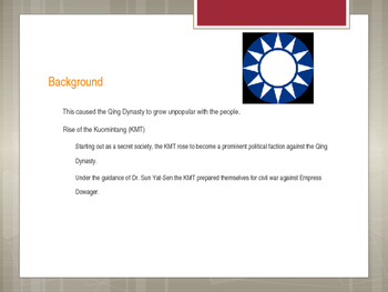 Changes in China PowerPoint