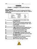Changes in Earth's Surface  (Volcanoes, Earthquakes, Landforms)