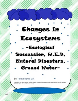 Ecosystems Quick Write Bell Ringers