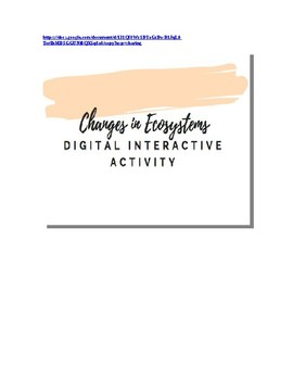 Changes in Ecosystems Hyperdoc