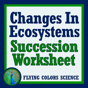 Ecological Succession Drawings Worksheet Activity (Changes in Ecosystems)