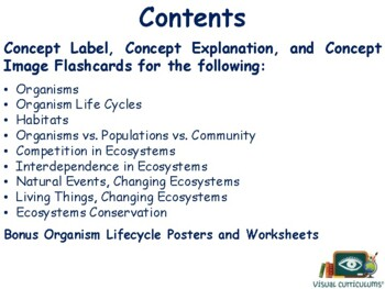 Changes in Ecosystems Lesson, Flashcards study guide exam prep 2018 2019 update