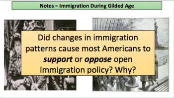 Changes in Immigration and Urbanization During Gilded Age (LP + Docs + PPT)