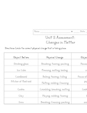 Changes in Matter Assessment