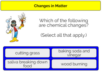 Changes in Matter Boom Cards