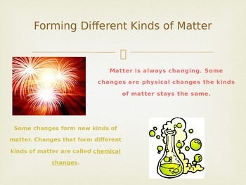 Changes in Matter, Lesson 2