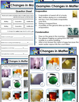 Science Bundle Changes in Matter PPT, Multiple Choice Questions and Answers  PDF